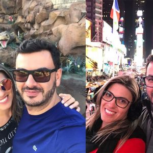 Fábio Espindola e Treissi Amorim visitam Magic Kingdon e Big Apple