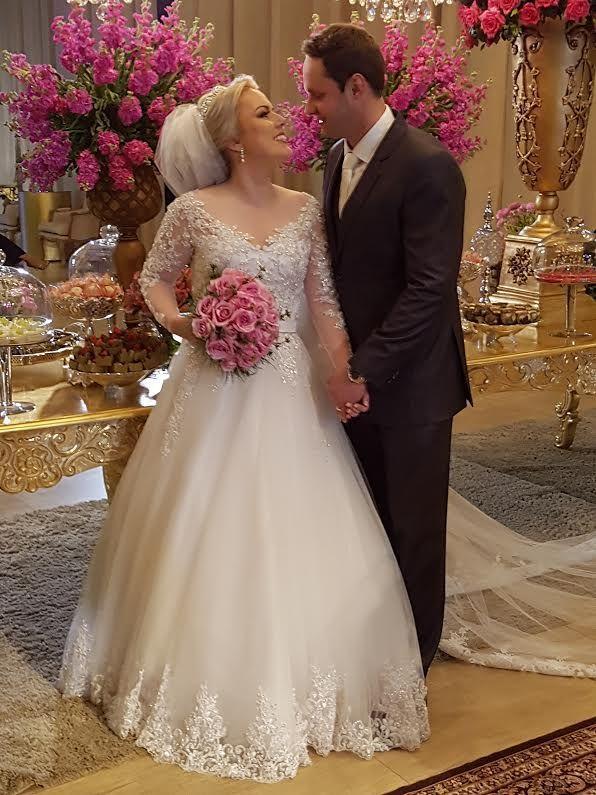 De Adelor para os noivos: Maiara e Filipe selam união em Criciúma